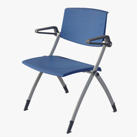 3d obj stackable folding chair zero9