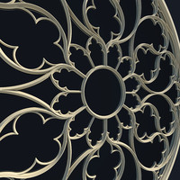 Elegant Gothic Rose Window