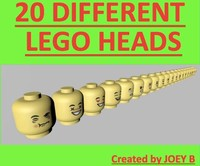 3ds max 20 lego heads