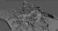 sity buildings 3d model