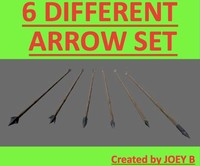 3d 6 arrows different model