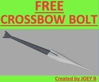 free basic crossbow bolt 3d model
