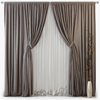 3d tull curtains m07 model