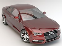 3d model audi a5 quattro coupe