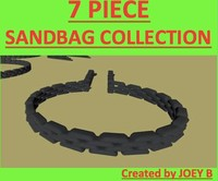 sandbag bag sand 3d obj