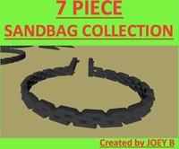 3ds max sandbag bag sand