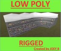 3ds max stadium crowd people rigged