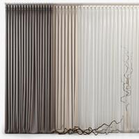 3d model curtains m18