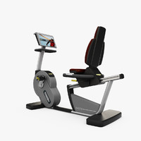 technogym ergometer 3d model