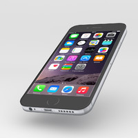 iphone 6 black 3d obj