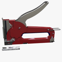3d staple gun model