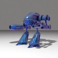 3d mech robot model