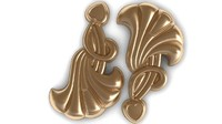 3d earings relief bas model