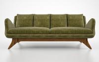 vladimir kagan venetian sofa 3d fbx
