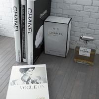 books chanel 5 3d max