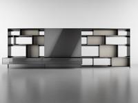 b bookcase 3d model