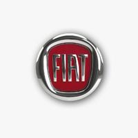 3d model of fiat logo