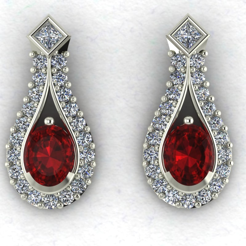 diamond earrings model - photo #22