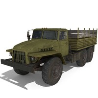 Ural 4320 Low Poly