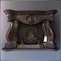 3d model fireplace lexus