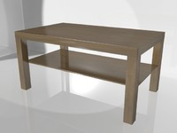 lack coffee table ikea 3d model