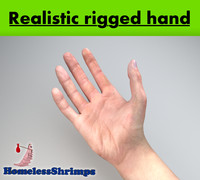 3d model rigged hands realistically