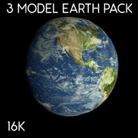 3d model pack earth 16k