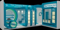 exhibition stall design 3d max