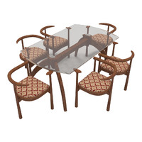 Dining Table With Chairs-9