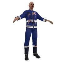 3d model zombie paramedic