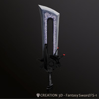 Fantasy Steampunk Sci fi Giant Sword