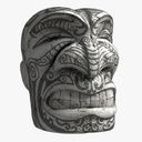 Olmec Stone Head 3D models
