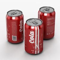 3d soda model