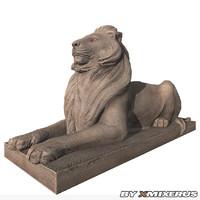 3d model of statue lion