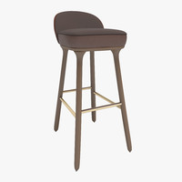 stylish beetley bar stool 3d model