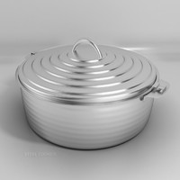 3d model steel cooker cooking