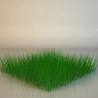 Low Poly Grass Model