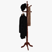maya rack coat hat scarf