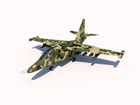 sukhoi su-25 frogfoot 3d 3ds