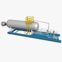 3d industrial boiler model