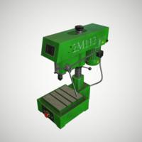 machine drill 3d obj