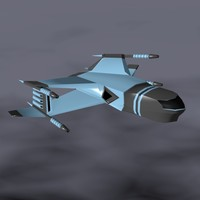 3d spaceship weapons model