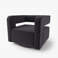 3d model chair nico swivel