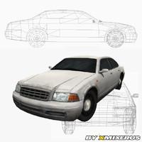 sedan car games 3d model