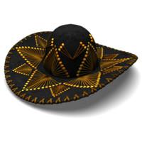 sombrero hat 3d obj