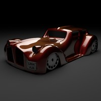 3d model of classic car