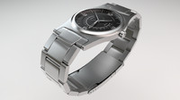 metal watch 3d 3ds