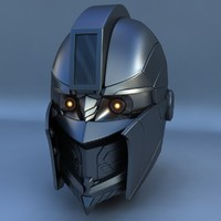 3ds max robot head d
