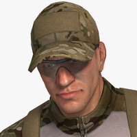 3ds max military male soldier set