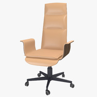 3d model of office chair 4 mariani